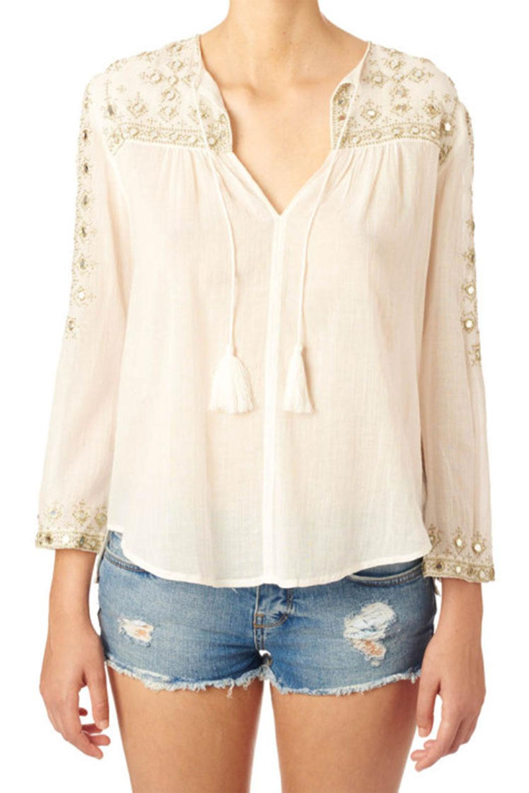 Star Mela Mirror Embroided Top - Front Cropped Image
