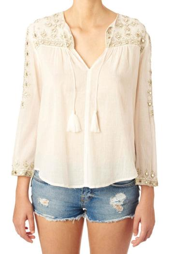 Star Mela Mirror Embroided Top - Main Image