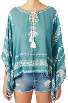 Shoptiques Product: Turquoise White Top