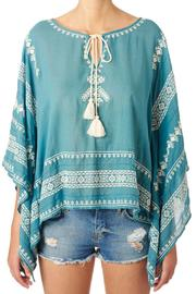 Star Mela Turquoise White Top - Product Mini Image