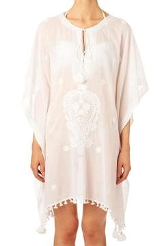 Star Mela White Embroided Kaftan - Product List Image