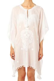 Star Mela White Embroided Kaftan - Product Mini Image