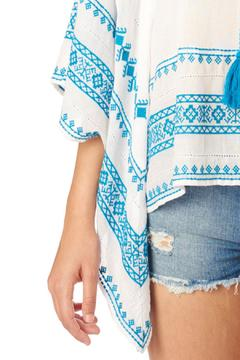 Shoptiques Product: White Turquoise Top