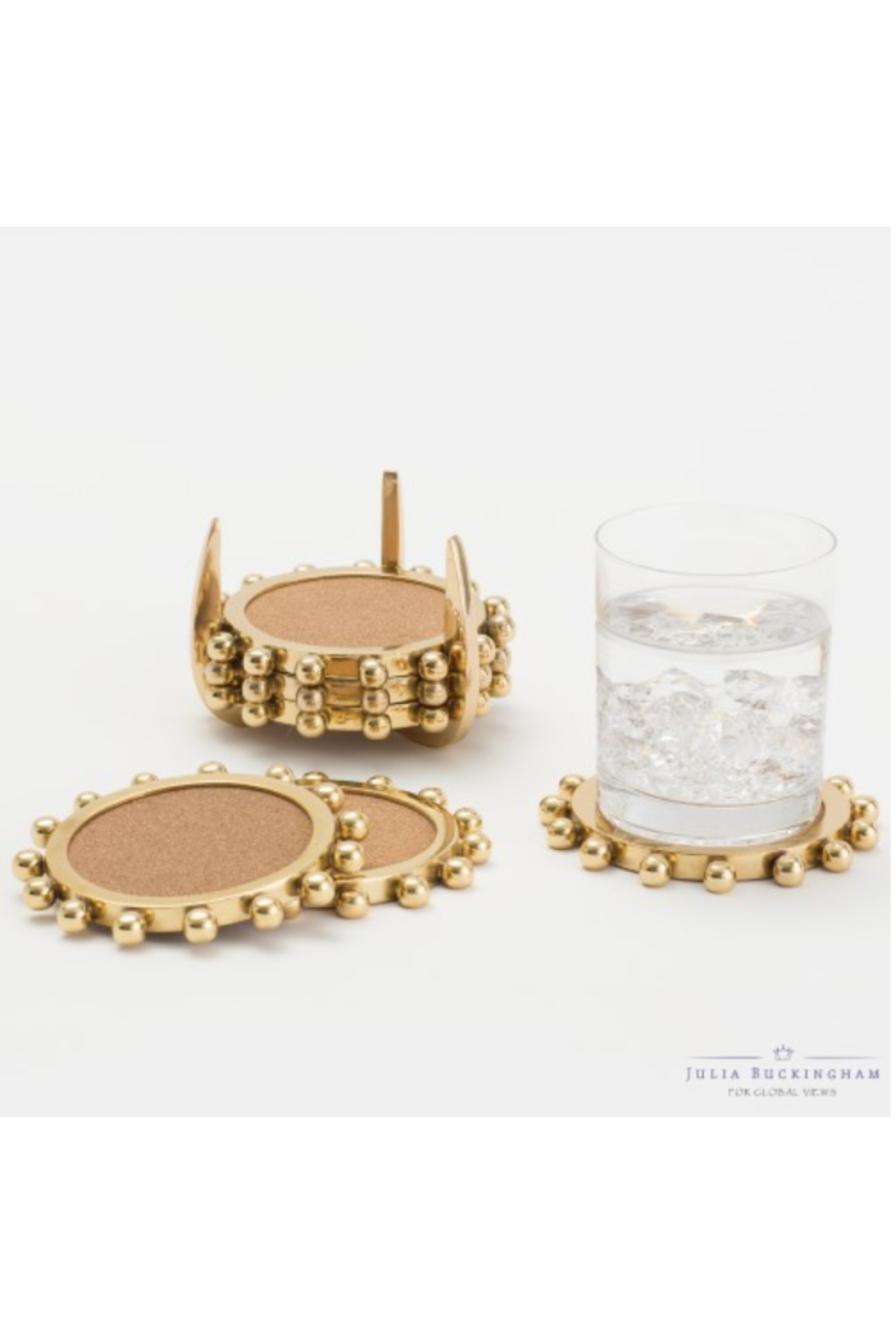 The Birds Nest STARBURST CROWN COASTERS SET 6 - Front Full Image