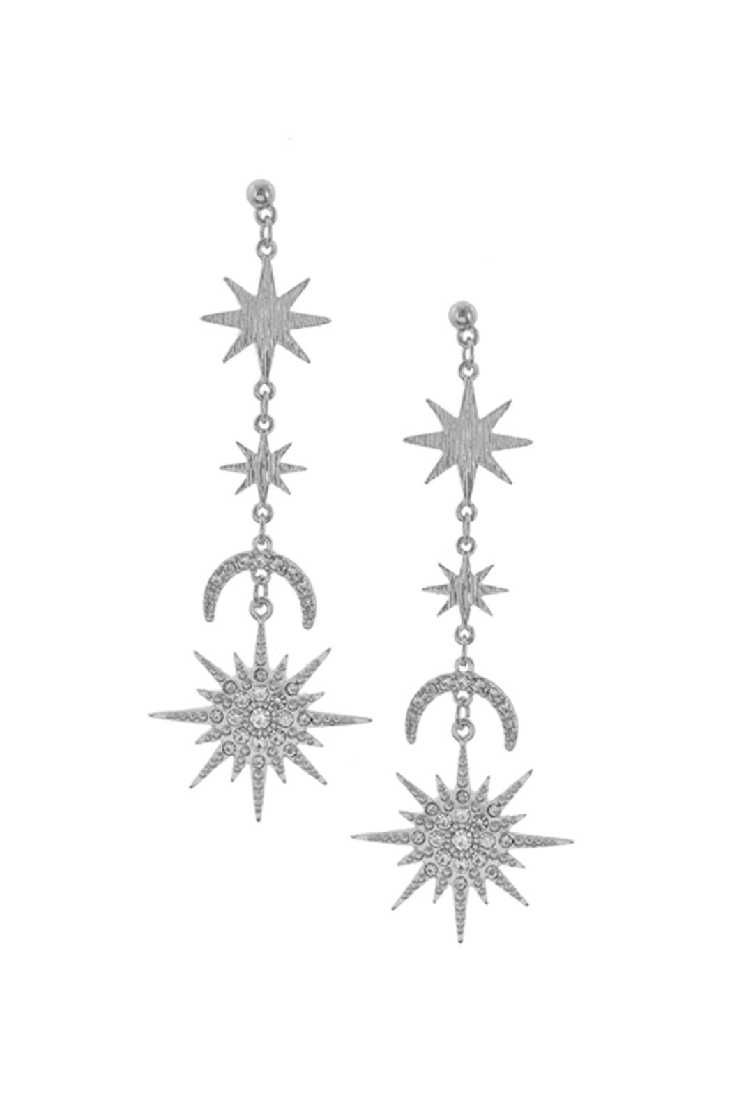Wild Lilies Jewelry  Starburst Crystal Earrings - Main Image
