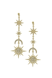 Wild Lilies Jewelry  Starburst Crystal Earrings - Product Mini Image