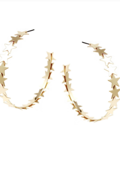 US Jewelry House Starburst Hoop Earrings - Alternate List Image