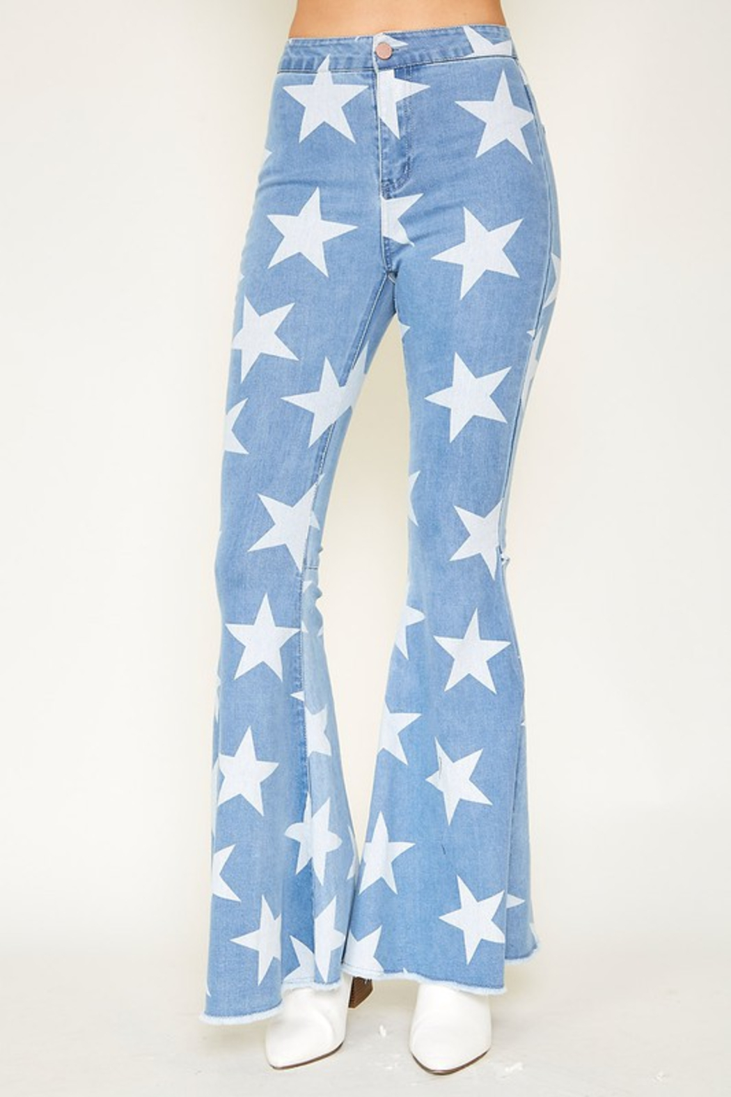 R+D  Stardust Bell Bottoms - Side Cropped Image