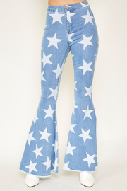 R+D  Stardust Bell Bottoms - Front cropped