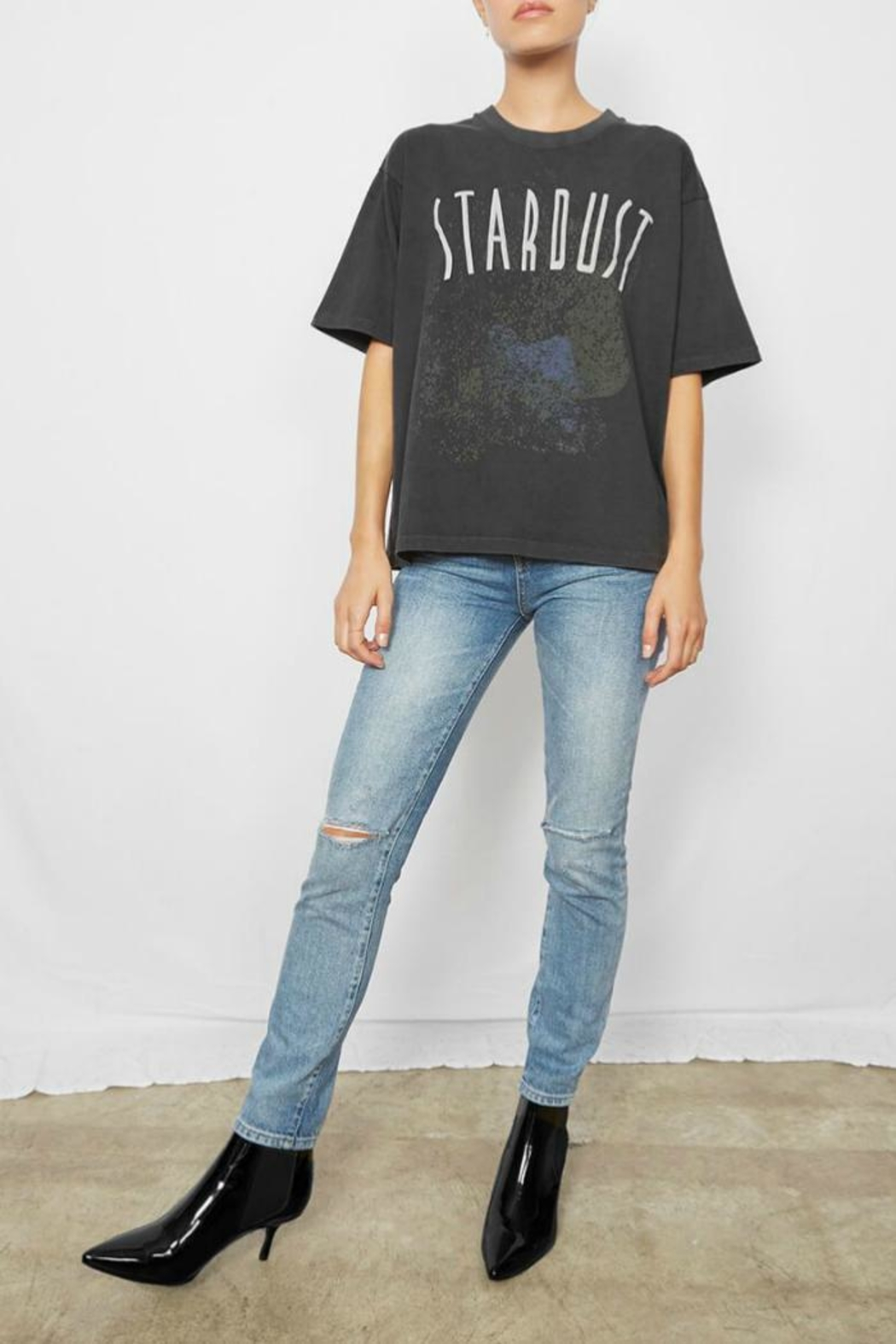 Anine Bing Stardust Tee - Back Cropped Image