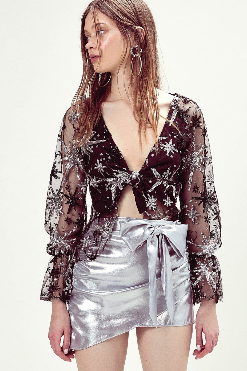 FOR LOVE & LEMONS Stardust Top - Front Cropped Image