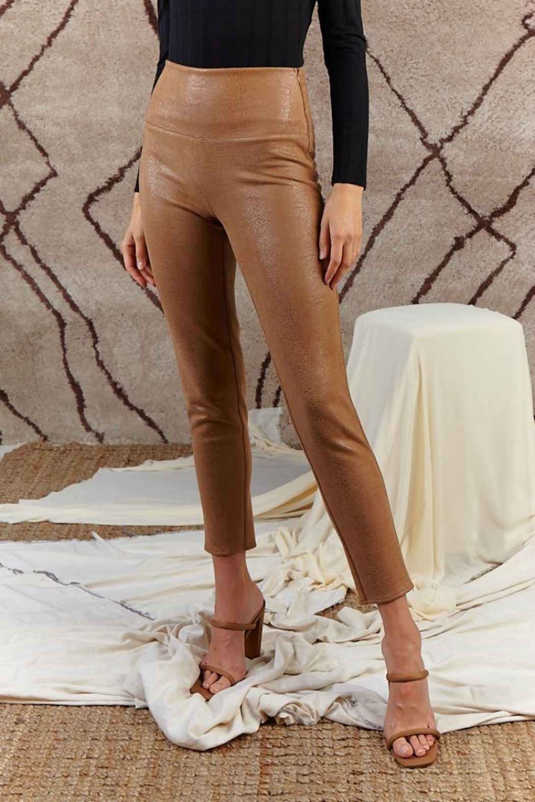 SAGE THE LABEL Stare' Mesto High Waisted Pant - Front Full Image
