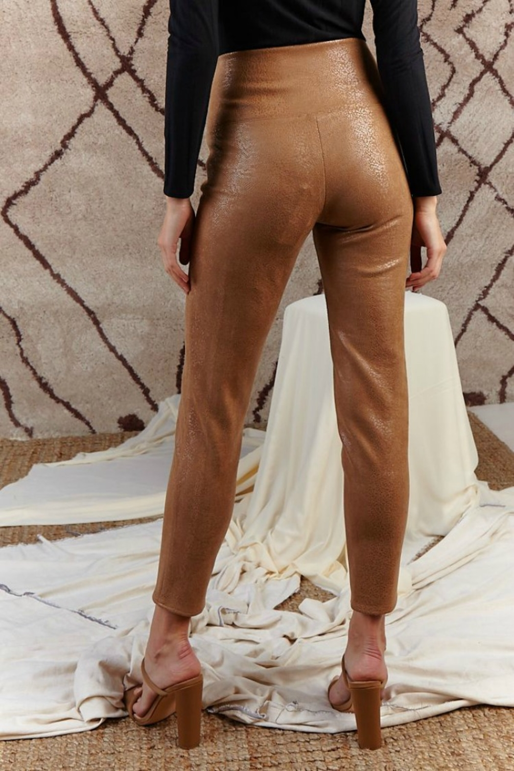 SAGE THE LABEL Stare' Mesto High Waisted Pant - Back Cropped Image