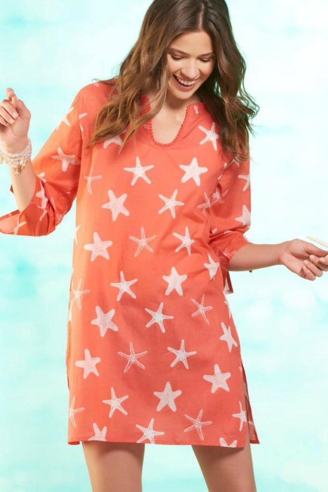 Giftcraft Inc.  Starfish Cotton Cover-Up - Front Cropped Image