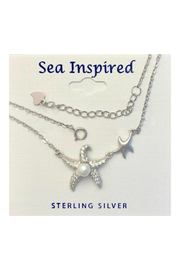 Presco Starfish Double / Pearl Necklace - Front cropped