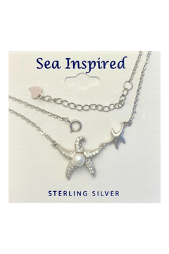 Presco Starfish Double / Pearl Necklace - Product List Image