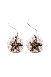 Riah Fashion Starfish Plate Drop-Earrings - Front cropped