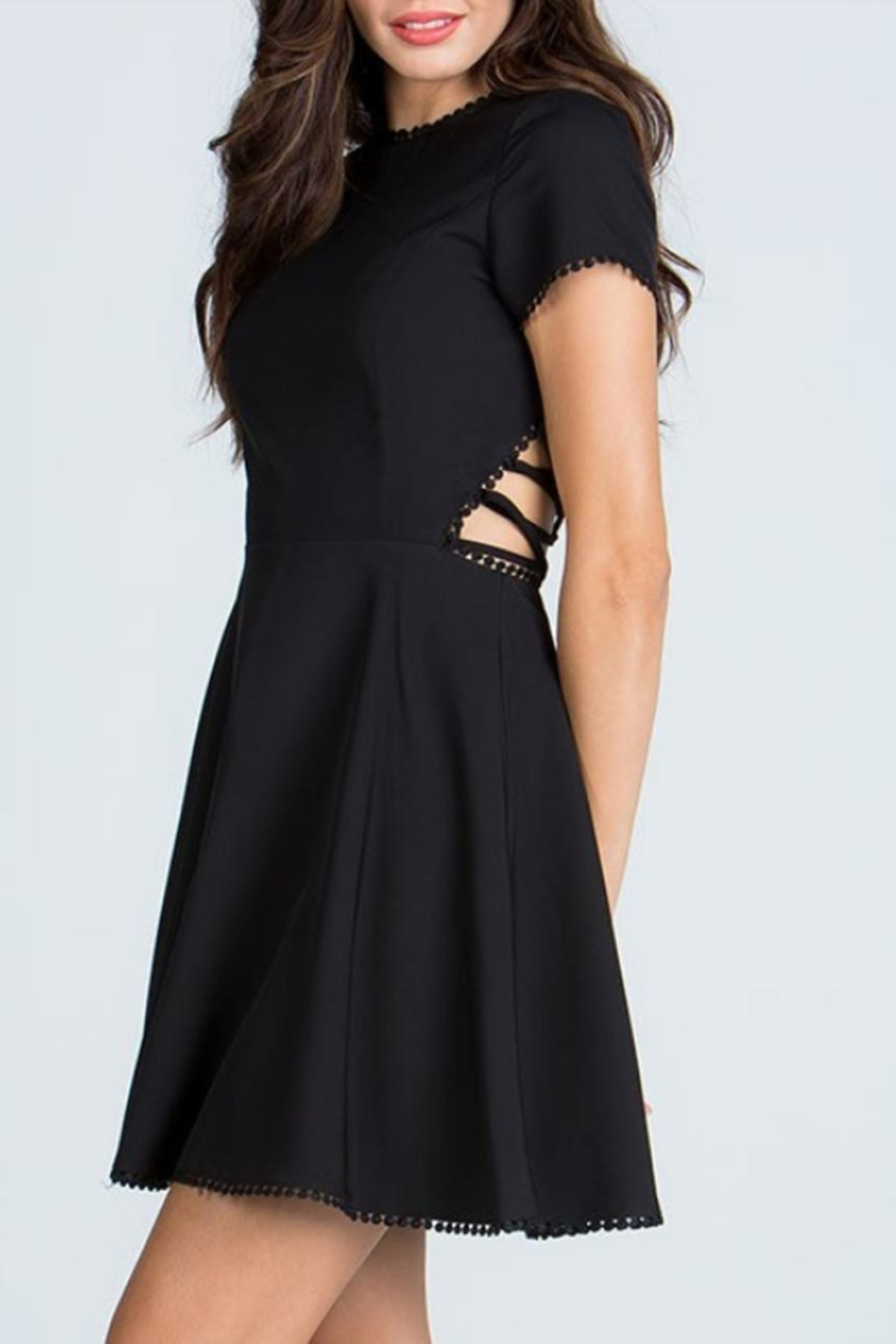 Starlette Apparel Lace Up Dress - Side Cropped Image
