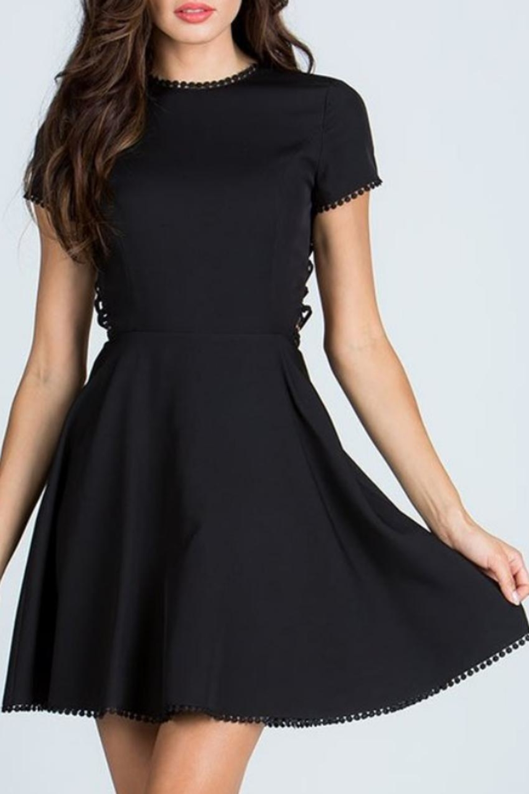 Starlette Apparel Lace Up Dress - Front Full Image