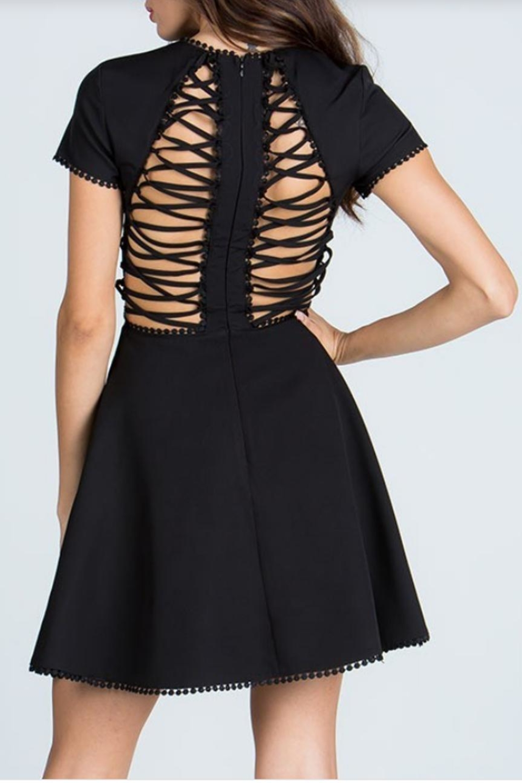 Starlette Apparel Lace Up Dress - Back Cropped Image