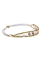 Bronwen Starlight Bracelet - Pyrite - Front full body