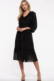 By the River Starry Glitter Ruffle Dress - Product Mini Image