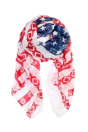 Riah Fashion Stars-And-Striped Flag Scarf - Product Mini Image