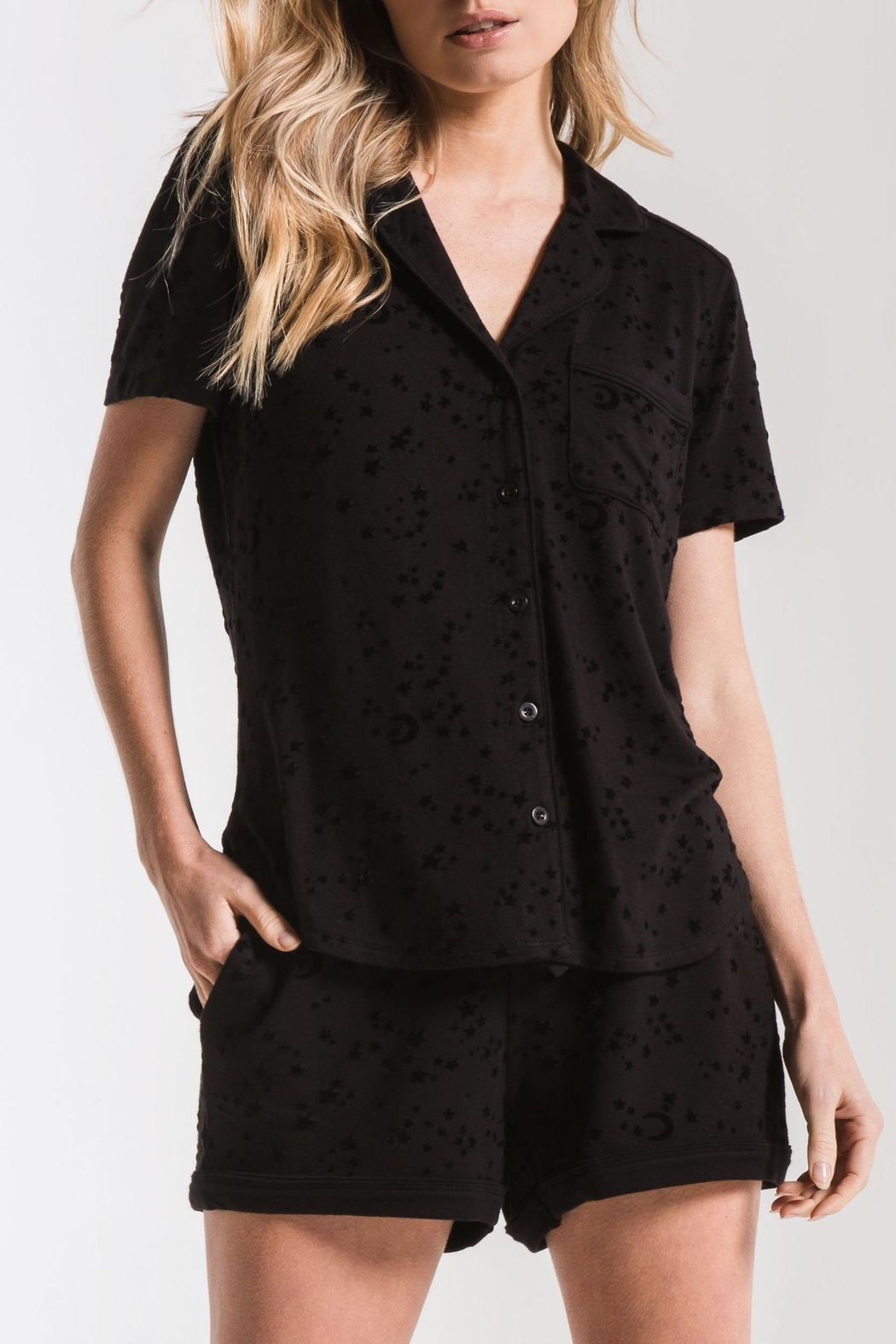 z supply Stars Pajama Shirt - Front Cropped Image