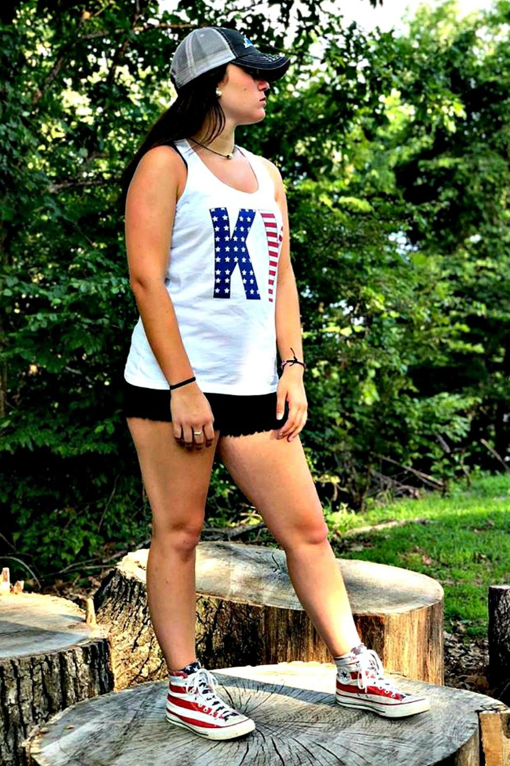 Comfort Colors Stars & Stripes Tank - Front Full Image