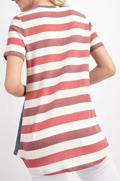 12pm by Mon Ami Stars Stripes Top - Alternate List Image
