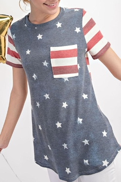 12pm by Mon Ami Stars Stripes Top - Product List Image