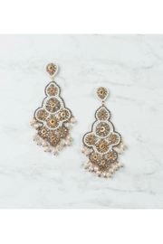 Rush by Denis & Charles Statement Beaded Earring w Drops - Front cropped