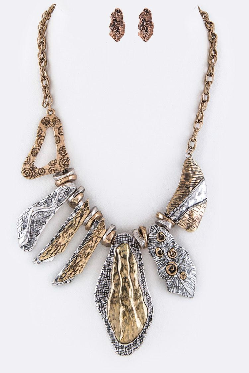 Nadya's Closet Statement Necklace Set - Front Cropped Image