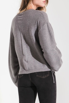 rag poets Statement Sleeve Sweater - Alternate List Image