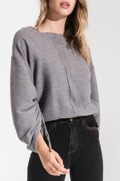 rag poets Statement Sleeve Sweater - Product List Image