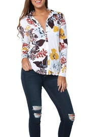 Stateside Multi Floral Shirt White - Product Mini Image