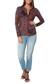 Stateside Multi Floral Shirt Wine - Product Mini Image