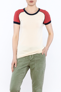 Stateside Red Shoulder Tee - Product List Image