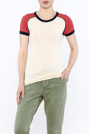 Stateside Red Shoulder Tee - Product Mini Image