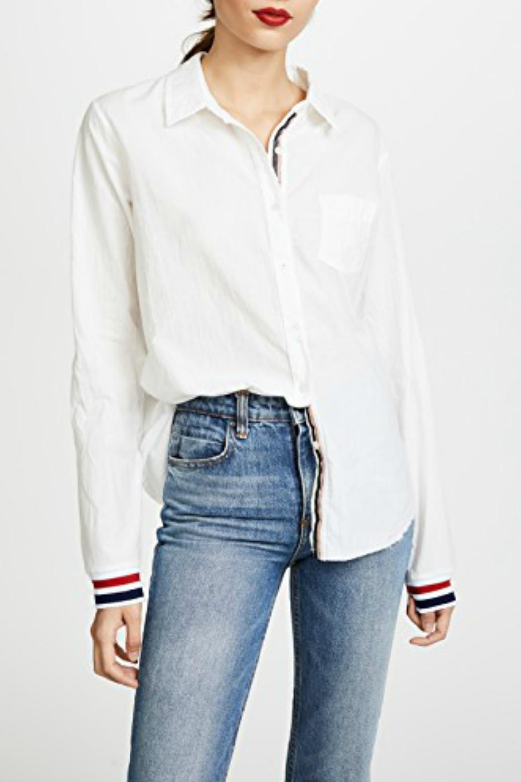 Stateside Stripe Track Button-Down - Front Full Image