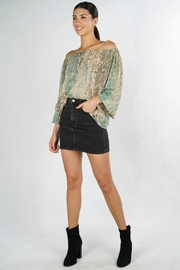 Lovestitch Stay Golden Blouse - Front cropped