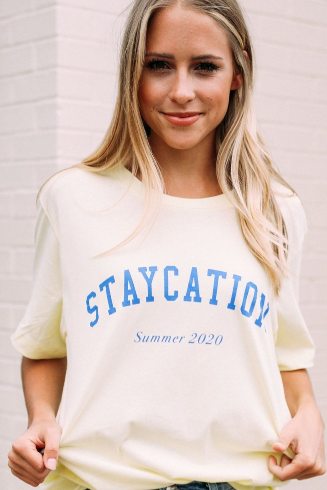 Friday + Saturday Staycation Tee - Front Cropped Image
