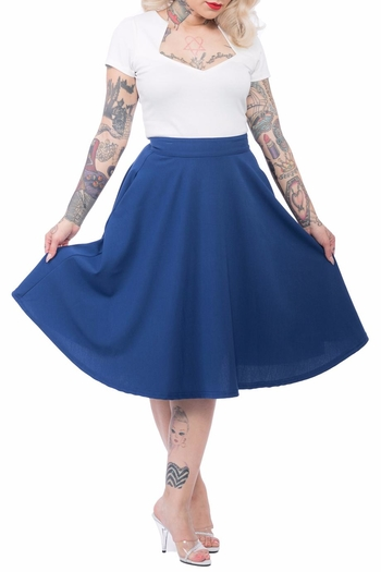 steady clothing blue swing skirt from omaha by jones