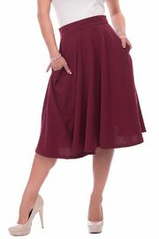 Steady Clothing Burgundy Swing Skirt - Product Mini Image