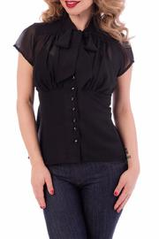 Steady Clothing Chiffon Tie Top - Front cropped
