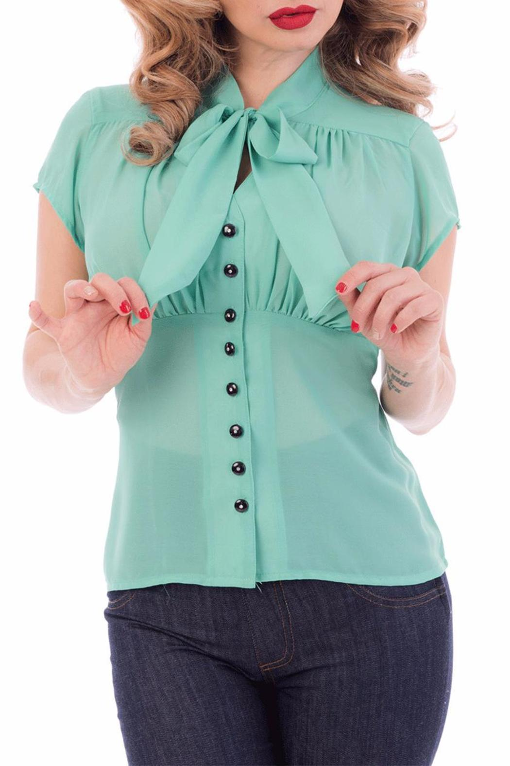 Steady Clothing Chiffon Tie Top - Front Cropped Image