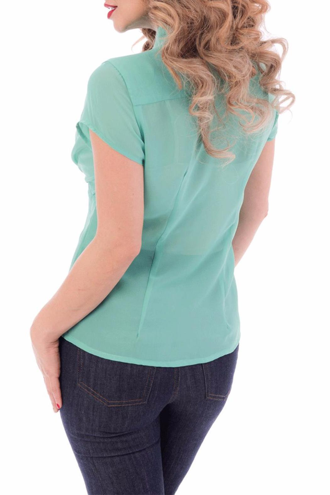 Steady Clothing Chiffon Tie Top - Front Full Image