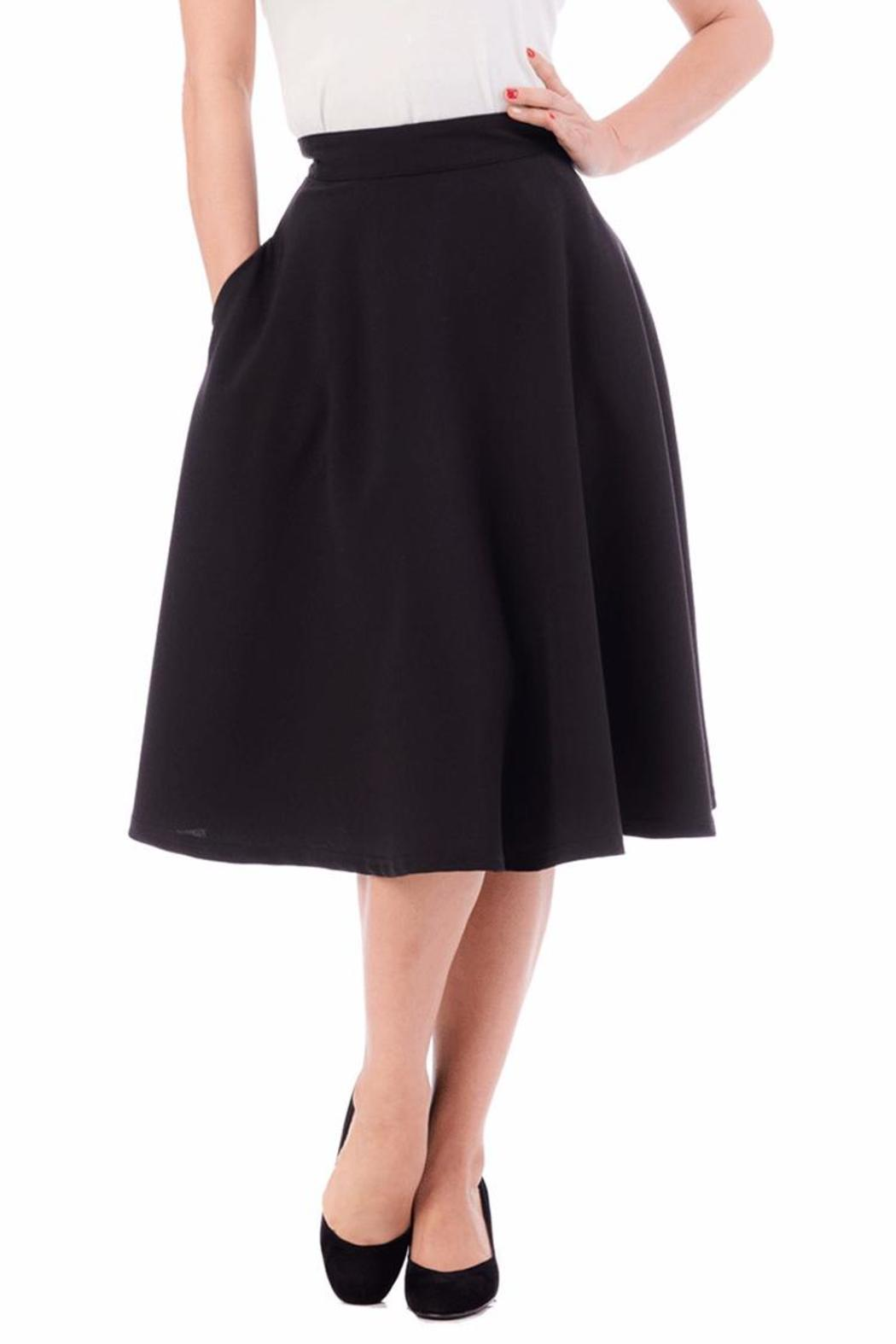 Steady Clothing High-Waist Circle Skirt - Front Cropped Image