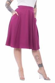 Steady Clothing Magenta Swing Skirt - Product Mini Image