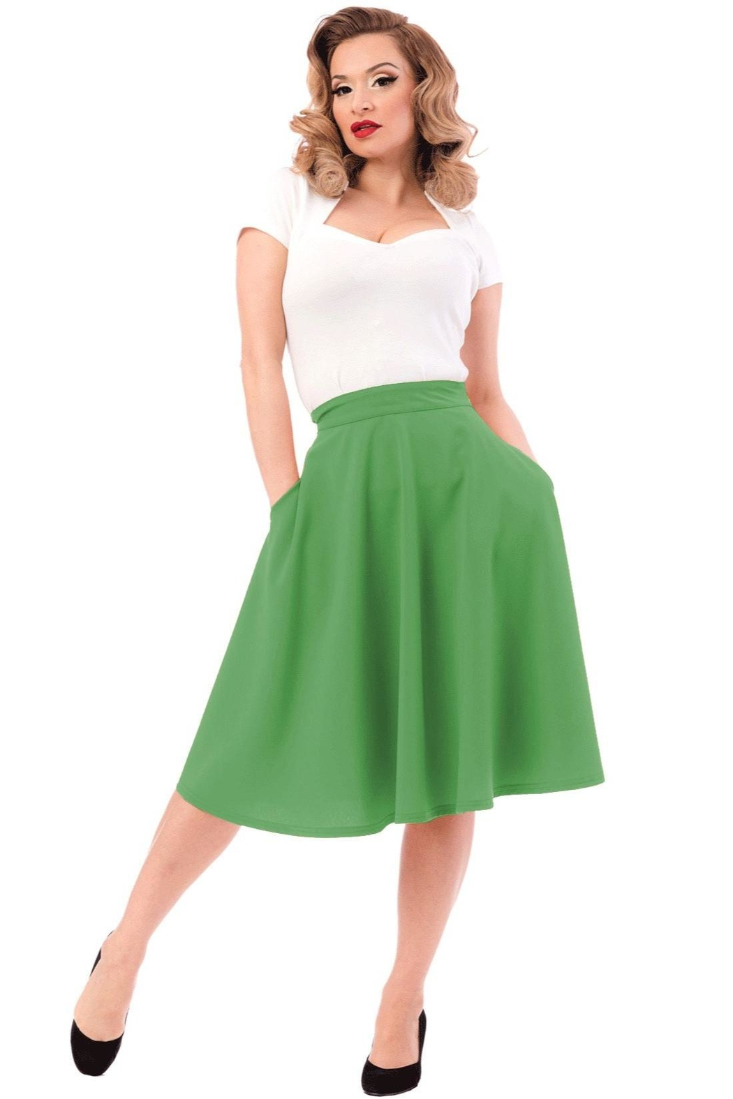 Steady Clothing Pocket Circle Skirt - Main Image